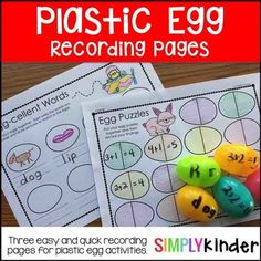 Plastic Egg Recording Sheet ••••••••••••••••••••••••••••••••••••••••••••••••••••••••••••••••••••••••••••••••••••••• Check out these other great units for this week: Peeps Science Experiments Peeps Writing Activity ••••••••••••••••••••••••••••••••••••••••••••••••••••••••••••••••••••••••••••••••••••••• Included in this download is:...