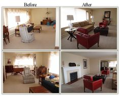 before and after staging