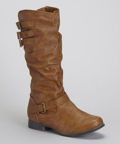 Tan Buckle Boot by Shoes of Soul on #zulily today! Also $29.99. Reg. Price is &60.00