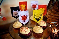 Sigil Cupcakes   Game of Thrones Party   vixventure.com