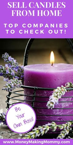 Sell candles from home and have a business you are passionate about. These companies can get you started! Candles lovers wanting to sell candles from home, these companies are a good place to start for businesses Soy Candle Making, Candle Making Supplies, Making Candles, Diy Candles To Sell, Fancy Candles, Expensive Candles, Mason Jar Candles, Beeswax Candles, Scented Candles