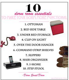 Dorm Room Essentials! | http://www.prepavenue.com/2013/12/dorm-room-essentials.html