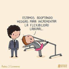 Flexibilidad #laboral Por @wawawiwadesign  #pelaeldiente