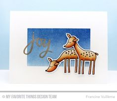 Deer Friends Stamp Set and Die-namics, Hand-Lettered Christmas Stamp Set - Francine Vuillème Christmas Sentiments, Christmas Wishes, Snowman Cards, Mft Stamps, Winter Cards, Card Tutorials, Cards For Friends, Sympathy Cards, Xmas Cards