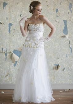 Alexandria Floral Wedding Gown | Tulle Wedding Dresses And Floral Bridal Dresses At ShopRuche.com