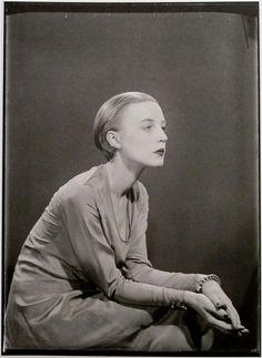 Karin van Leyden, Paris, 1929. Kodak (nitrate) by Man Ray