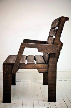 Fauteuil adirondack avec repose pieds fauteuil pliant bois for Modele de fauteuil en palette