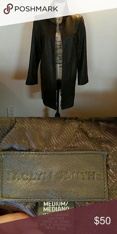 JACLYN SMITH LEATHER COAT brown leather coat, clean no rips or stain gently used some mark on leather from normal wear, smoke free home Jaclyn Smith Jackets & Coats