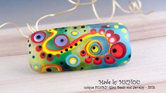 Art Glass - Lampwork - Focal Bead by Michou P. Anderson by michoudesign on Etsy
