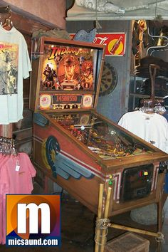 Disneyland Indiana Jones pinball machine in the gift shop
