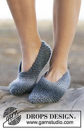 Ravelry: 0-1082 Midnight Storm Slippers pattern by DROPS design