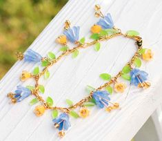 Cathe Holden's Blooming Flowers Bracelet in the book Shrink! Shrank! Shrunk! free project