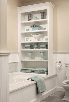 Like the storage idea - toys & towels etc