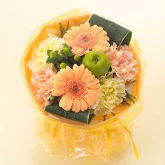 そのまま飾れるカラーブーケ「シャーベットオレンジ」