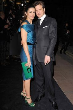 Livia Firth in Sarah Shepard's for the GCC at  A Single Man, the London premier