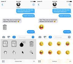 Apple propose plusieurs autocollants animés à utiliser dans Messages sur iOS 10