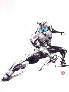 「仮面ライダーカブト」/「from78」[pixiv] Power Rangers Pictures, Kamen Rider Series, Manga Comics, Ink Painting, Ink Art, Manga Anime, Graphic Art, Character Design, Cosplay