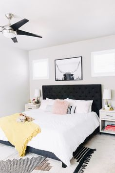 Eclectic bedroom makeover where rustic meets pretty