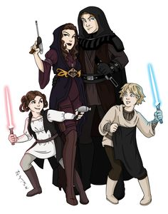 Skywalker Family Redesign by ~msciuto on deviantART