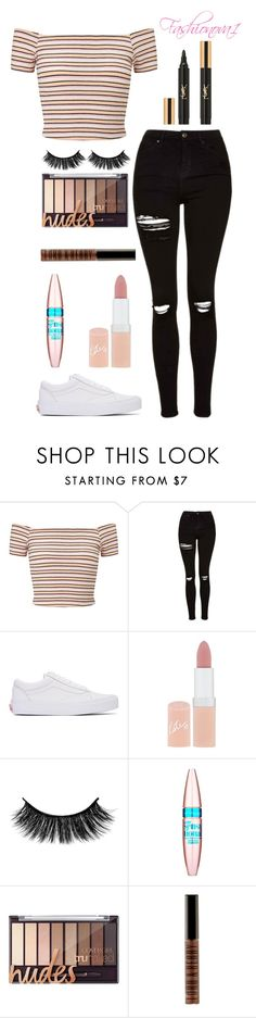 """Strikes like thunder"" by fashionova1 ❤ liked on Polyvore featuring Miss Selfridge, Topshop, Vans, Rimmel, Maybelline, Lord & Berry and Yves Saint Laurent"