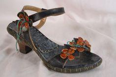SPRING STEP Tarragon Leather Stacked Heel Sandals Shoes Size 39 US 8 #SpringStep #AnkleStrap