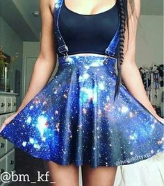 Galaxy Skirt 😍 Yay Or Nay? Cute Prom Dresses, Pretty Dresses, Beautiful Dresses, Teen Fashion Outfits, Girl Outfits, Fashion Dresses, Kawaii Fashion, Cute Fashion, Cute Casual Outfits