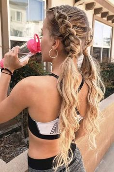 68 Most Cute and Gorgeous 💋 Twisted Hairstyle Ideas You May Love – Diaror Diary – Hairstyles Theme Fishtail Hairstyles, Gym Hairstyles, Easy Hairstyles For School, Spring Hairstyles, Hairstyle Ideas, Hairstyles For Concerts, Clubbing Hairstyles, Curly Hairstyle, Simple Hairstyles