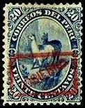 Stamp: Lama (Lama glama) (Peru) (Llamas) Mi:PE D20,Sn:PE O22,Yt:PE S19
