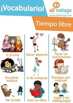 What do you enjoy the most doing during your #freetime? Learn some Spanish #vocabulary about this theme and have fun on Spain! :D #LearnSpanish #SpanishSchool #SpanishVocab