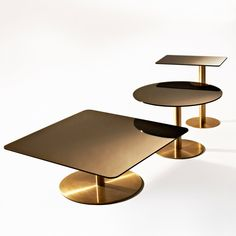 Flash table - Tom Dixon #interior #design #brass