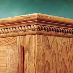 Cabinet Door Trim | Wood carved cabinet door moulding - Half Rings ...