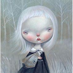 Луноликие девочки из зазеркального мира. Художница Dilka Bear - Ярмарка Мастеров - ручная работа, handmade