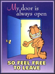 LMAO! Hey ! That's what I always say, Love watching Garfield never miss an…