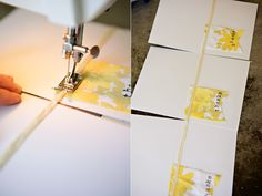 sewn notecards...how clever and easy