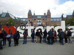 I Amsterdam am Rijksmuseum