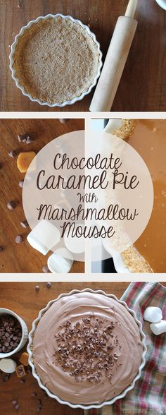The Craft Patch: Decadent Caramel Pie with Chocolate Marshmallow Mousse