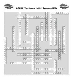 AP US History Vocab Review The Stormy Sixties Crossword APUSH Ap Test, Test Prep, Social Studies Activities, Teaching Resources, Ap Us History, American History, High School Classroom, School Levels, Cooperative Learning