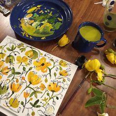 Inspirational Instagram: Beautiful Watercolor Blooms by Carolyn Gavin
