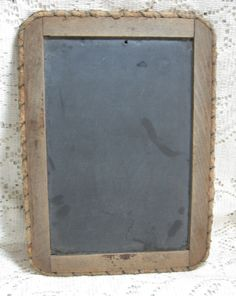 Americana Antique Chalkboard Authentic from the Turn of the Century 1900 Primitive Slate School Tablet