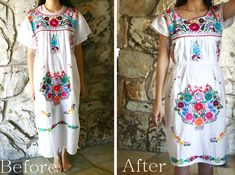 Life is Beautiful: DIY: Make a muumuu type dress into a fitted dress