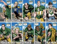 Packers drawn like this look... Awesome!! Go Pack Go!