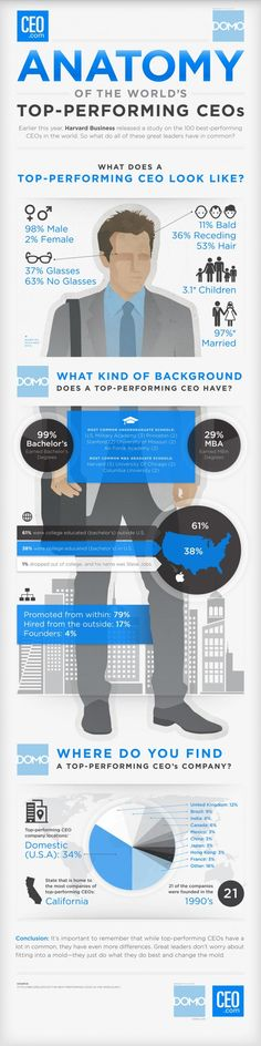 Anatomy of the World's Top-Performing CEOs Infographic