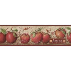 York Wallcoverings 6 in. Apple Border-CB5559BD at The Home Depot