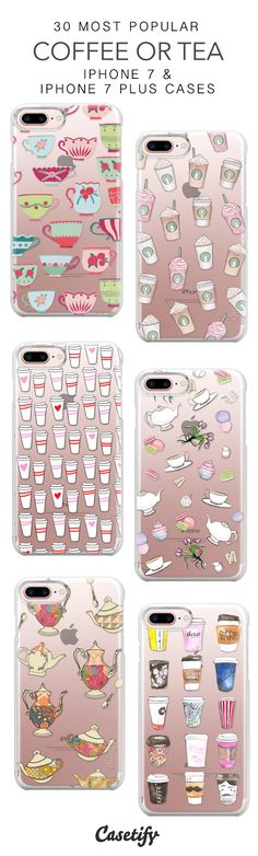 30 Most Popular Coffee or Tea Protective iPhone 7 Cases and iPhone 7 Plus Cases. More Drinks iPhone case here > https://www.casetify.com/collections/top_100_designs#/?vc=giEirPNwTp