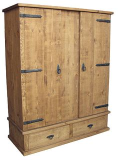 Rough Sawn Large Wardrobe