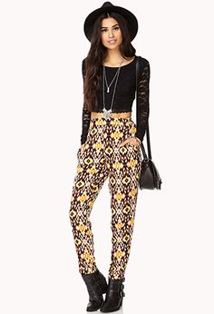 Desert Cool Ikat Pants | FOREVER21 - 2000090288 This pattern is soo pretty. #SummerForever #F21xMe