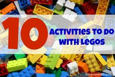 Play and learning with Lego bricks can involve more than just building. Here are 10 things kids can do with Legos to make learning fun. Craft Activities For Kids, Kindergarten Activities, Classroom Activities, Summer Activities, Preschool, Lego Projects, Projects For Kids, Childhood Education, Kids Education
