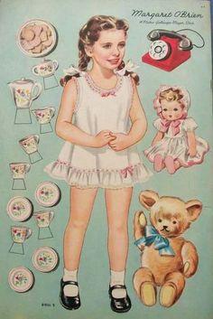 Boneca de Papel Vintage.