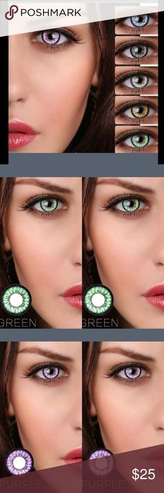 Brand new colored non-prescription contacts Color contacts Other
