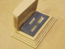 Deco Celluloid Ring Box- Rare 3 ring holder $95